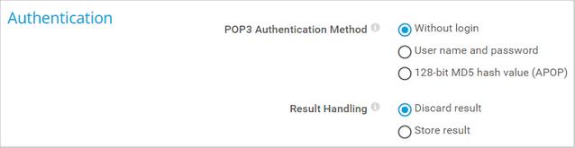 POP3 Authentication