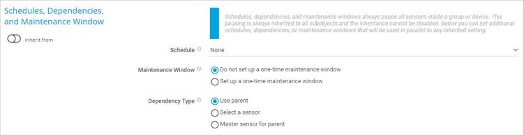Schedules, Dependencies, and Maintenance Windows