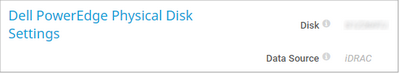 Dell PowerEdge Physical Disk Settings