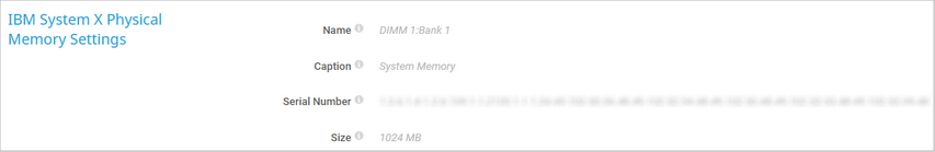 IBM System X Physical Memory Settings