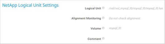 NetApp Logical Unit Settings