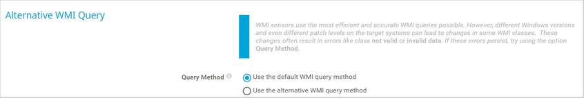Alternative WMI Query