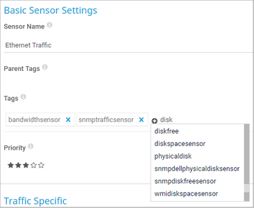 View and Edit Tags in Basic Sensor Settings