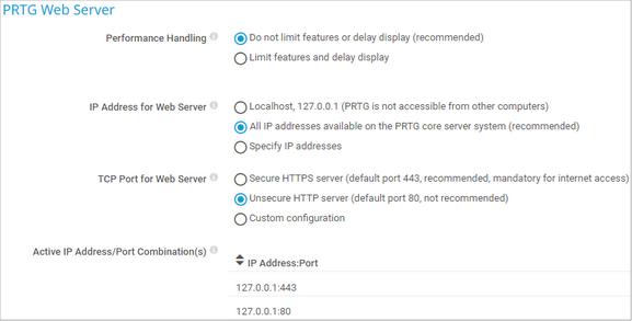 PRTG Web Server