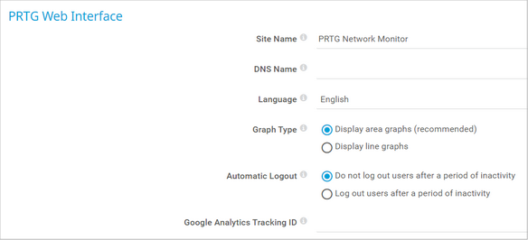 PRTG Web Interface