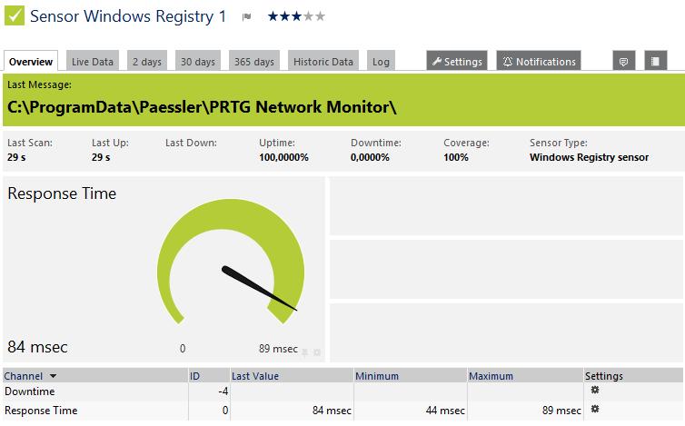 Windows Registry Sensor